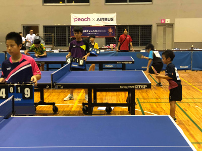第1回美ら島チャレンジ卓球大会の様子