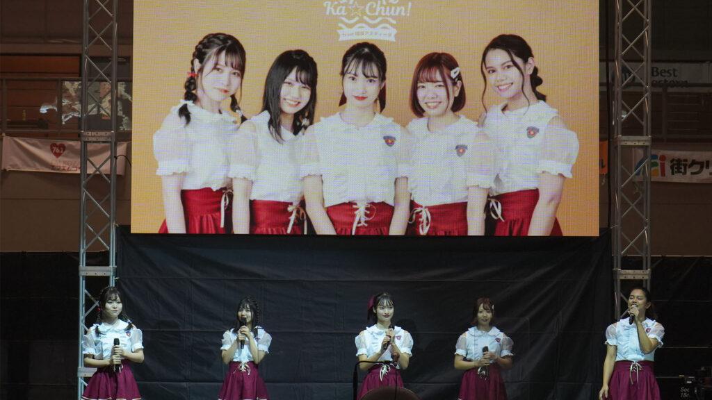 Ka☆Chun!from 琉球アスティーダ 初舞台の様子1